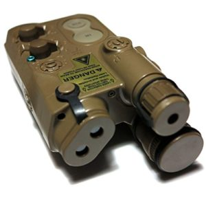 Airsoft Gear Parts Accessories Army Force PEQ-16 Boîtier de batterie avec monture RIS Marron foncé