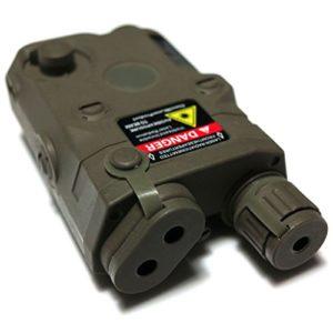 Airsoft Gear Parts Accessories PEQ 15 Style Boîtier de batterie avec monture RIS ACU Feuillage Vert FG