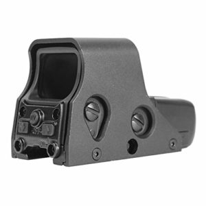 Big Dragon Viseur Airsoft Eotech 551 Double vis à dégagement Rapide/Point Rouge, Aluminium anodisé (Noir)