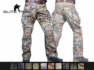 Elite Tribe Emerson Airsoft Combat Tactique Un Pantalon Chasse Gen3 Un Pantalon avec Genouillères (Multicam, Large)