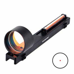FOCUHUNTER Lunette de visée Fiber Red Dot 1x25mm Optique Tactique Prise de Vue en extérieur Visée holographique réflexe pour Rail nervuré pour Fusil de Chasse de 11 mm