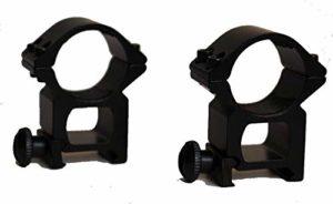 QFL FTQ 25,4 mm / 1″ Ring 20 mm Weaver Rail See Through Haute Heavy Duty (HD) embasses Anneaux, Chasse Riflescope Bague de Montage Rentable