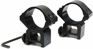 QFL FTQ High Profile 30mm Anneau Weaver Portée Duty 20 mm Accessoires de Chasse Montage sur Rail (2pcs), la Chasse Base de Montage Tactique Accessoires Gun Rentable