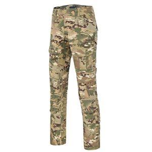 QMFIVE Pantalon Militaire, Hommes Camo Combat Combat BDU Pantalon de Combat Pantalon pour Armée Militaire Tactique Airsoft Paintball