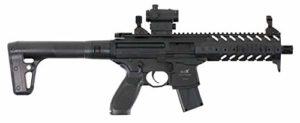 Sig Sauer MPX ASP Black + Red Dot Co2 mitraillette, 4,5 mm – 0,5 Joules