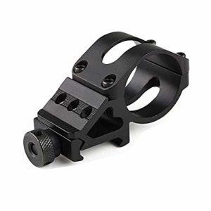 WESLITE Anneau de 1″25 mm, Côté Décalé à 45 Degrés Montage sur Rail Picatinny pour Lampe Torche Tactique 20mm Picatinny Support de Lunette de Déport de Rail