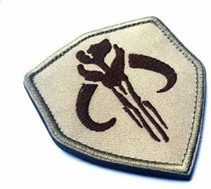 YOMI Bounty Hunter Boba Fett Mandalorian Bantha Skull Brodé Patch Paintball Airsoft (Brown)