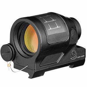 ACEXIER Chasse Reflex Sight Système D'énergie Solaire Chasse 1X38 Red Dot Sight Scope avec QD Mount Optics Rifle Scope