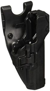 BlackhawkHolster de Fonction SERPA Niveau 3 – Verrouillage Automatique – Finition Mate, Mixte, 44H109BK-R, Noir, Size 09 – H&K USP Compact 9/40 and P-2000 (Euro Version)