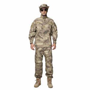 CIGONG Camouflage Sportswear Costume Jungle Chasse Sports Alpinisme entraînement Costume Camouflage Couture Conception Veste Veste Pantalon Slim Camouflage (Size : XXL/185-185B/100kg)
