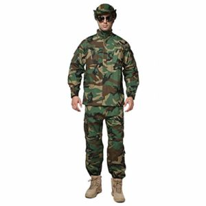 CIGONG Costume de Camouflage Chasse tir Camouflage Uniforme de Veste de Camouflage Hommes Camouflage (Size : XS/165-170/60kg)