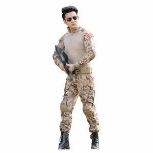 CIGONG Vêtements de Camouflage mâle équitation en Plein air Sports pêche cachée Chasse Camping Observation des Oiseaux Costume d'été Section Mince Costume de Chasse Costume de Chasse Camouflage