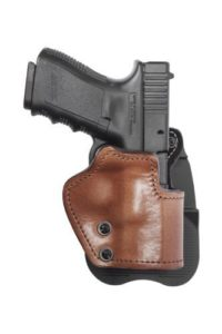 Front Line LKC72P-BR Open Top Paddle Holster, Brown, Right by Mako Defense