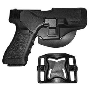 Holster de Ceinture – IMAGE Etui de Revolver pour Glock 17/22/31 – conçu pour Main droite – Holster de Pistolet, Airsoft, Gun militaire – Etui de Police, Chasse, Sport, Combat