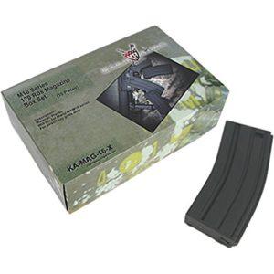 King Arms Lot de 10 chargeurs 120 BBS m4 aeg Noir Taille Unique