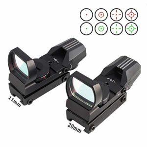 Kyt-my 11/20 mm Montage sur Rail Chasse Optique Holographic Red Dot Sight Reflex 4 Reticle Accessoires Gun (Color : 11mm Rail)