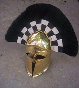 laiton grec Corinthian Armour casque avec plume par Nauticalmart