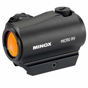 Minox Micro visière à point rouge RV 1 lumière 12 niveaux de luminosité avec montage Weaver/Picatinny