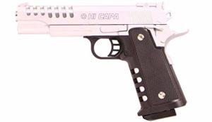 Plan Beta Pistolet Heavy Metal Hi-Capa Silver Spring 0.5J Adulte Unisexe