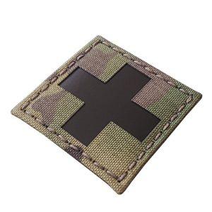Red Cross Multicam Infrared IR Med Medical EMS EMT 2×2 Tactical Morale Hook&Loop Patch